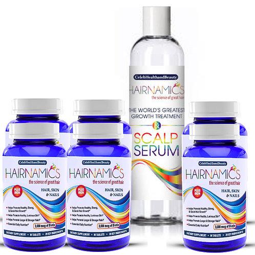 GROWTH DUO ULTIMATE-6 Vitamins+8oz Scalp Serum