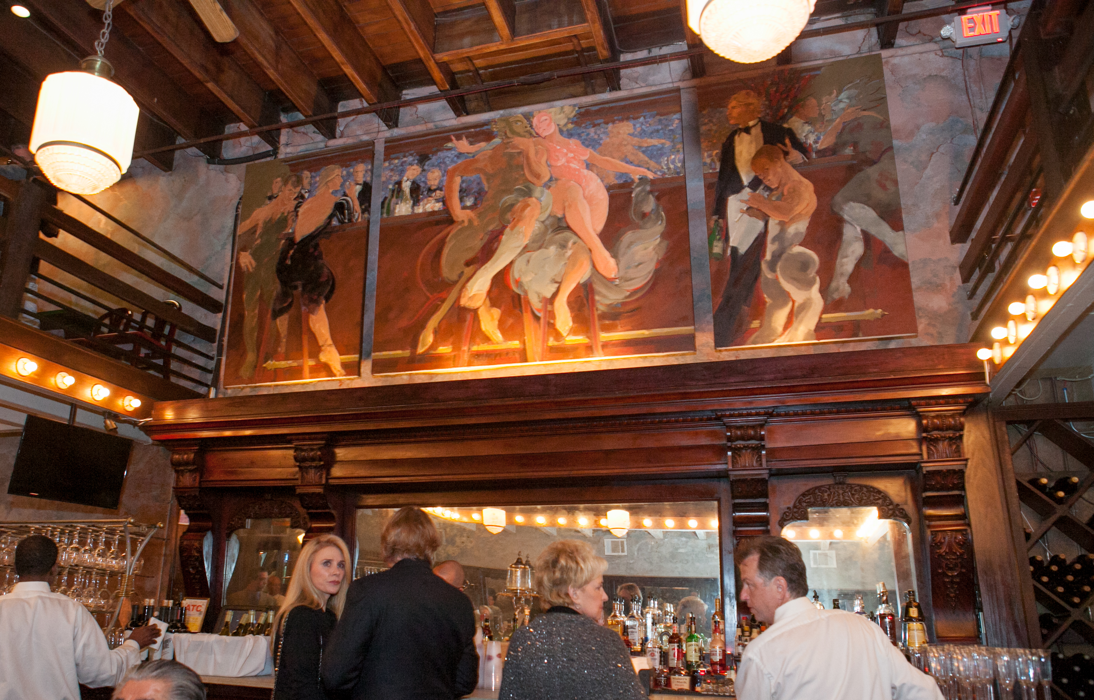 George Dureau triptych over the Bar