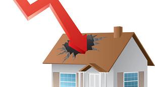 Meredek árzuhanás lesz az ingatlanpiacon