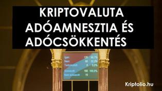 Adócsökkentés és adóamnesztia a kriptovaluták után
