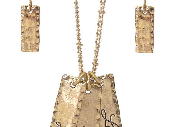 Inspirational Pendant Necklace Set