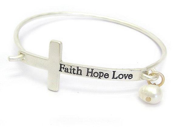 Cross Wire Bangle Bracelet