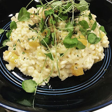 Smoked oyster mushroom risotto, butternu