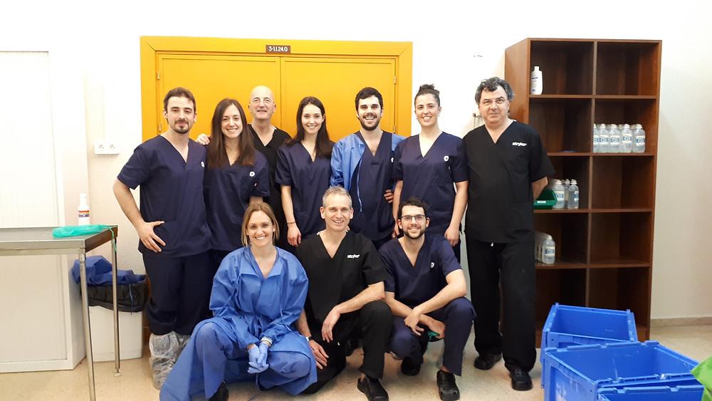 Jornadas de artroscopia en cadáver