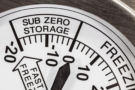 Refrigerator thermometer sub zero area m
