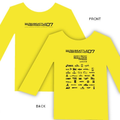 2007 UW Medicine Seattle Marathon Participant Shirt