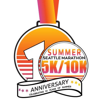 10th Anniversary Summer 5k/10k Medal