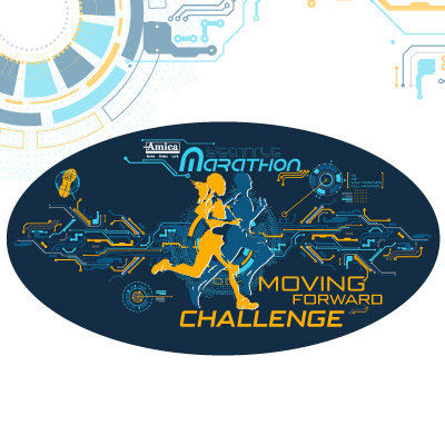 Moving Forward Challenge 2020 Oval Sticker