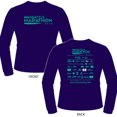 2010 Amica Insurance Seattle Marathon Participant Shirt