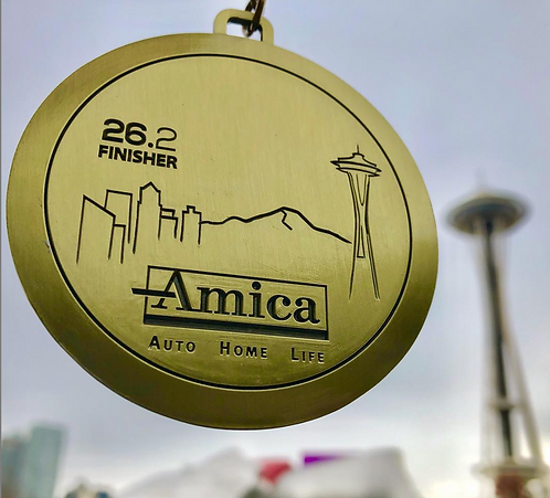2018 Amica Insurance Seattle Marathon Medal