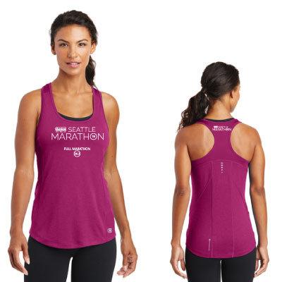 2018 Women's Raspberry Performance Tank: Full Marathon