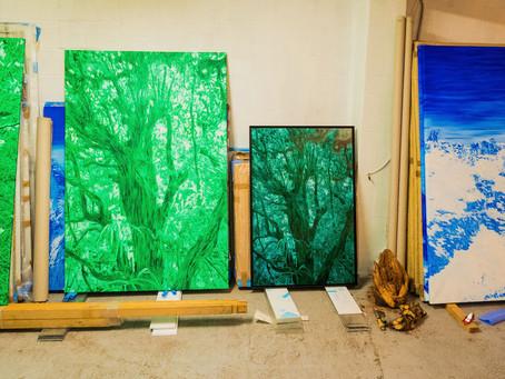 Le peintre Tristan Vyskoc donne une oeuvre à la fondation