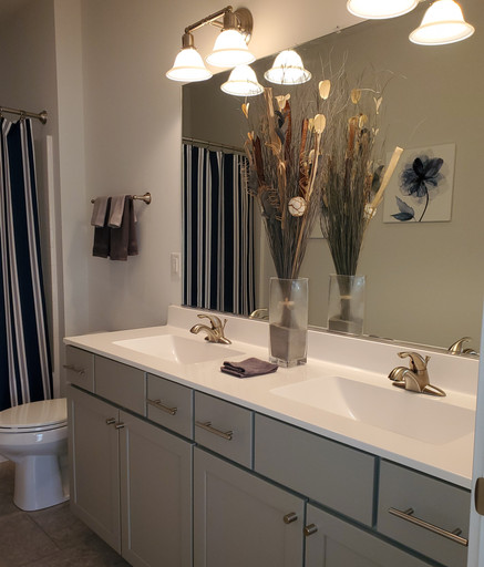 Cultured Marble Vanity - Wave Runner Bow