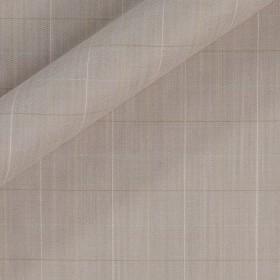 Tissu en laine et viscose extensible avec motif à carreaux effet mélangé
