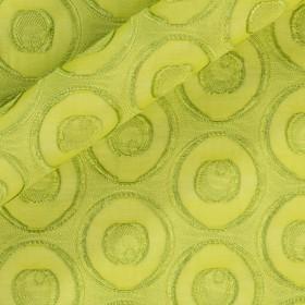 Tissu en fil coupé à pois