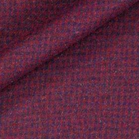 Tissu de tweed pied de poule en pure laine vierge