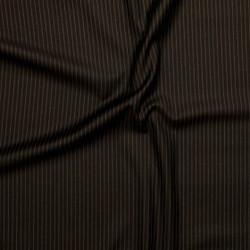 Tissu à fines rayures en pure laine vierge