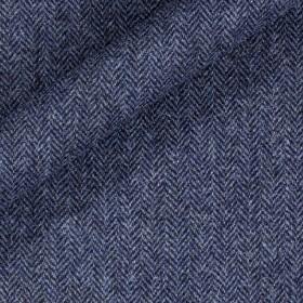 Tissu de tweed à chevrons en pure laine vierge