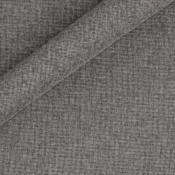 Tissu uni en laine, coton et soie