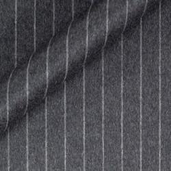 Manteau à fines rayures en pure laine vierge et cachemire