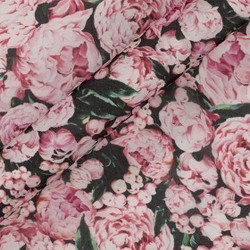 Tissu imprimé floral en mousseline de soie