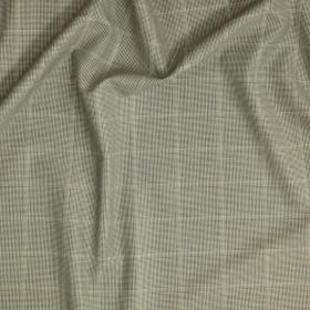 Tissu à carreaux en double retors en pure laine vierge