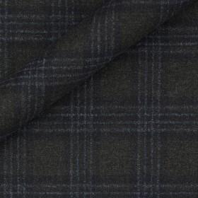 Tissu à carreaux en laine, cachemire et soie