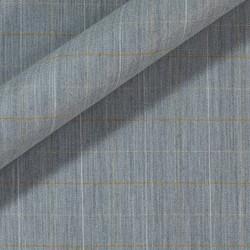 Tissu en laine et viscose extensible avec motif à carreaux à effet mélangé