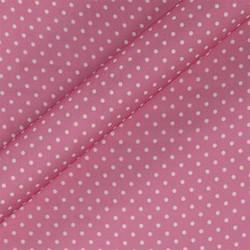 Tissu imprimé à pois en mousseline de soie
