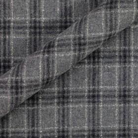 Tissu à carreaux en pure laine vierge et cachemire