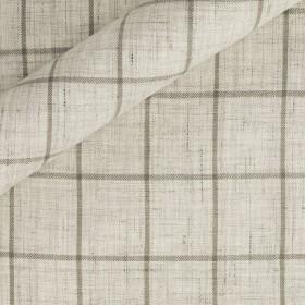 Tissu à carreaux en pur lin