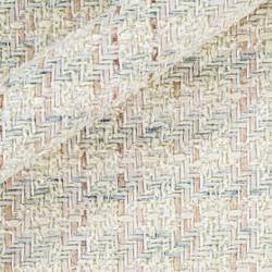Tissu bouclé avec fils entrelacés multicolores