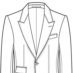 épaules structurées anglaises veste