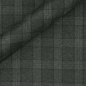 Tissu en flanelle à carreaux en pure laine vierge Super 130's