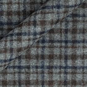 Tissu à carreaux en alpaga et pure laine vierge