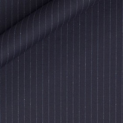 Tissus à rayures fines en pure laine vierge