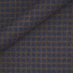 Tissu à carreaux en laine, soie et cachemire