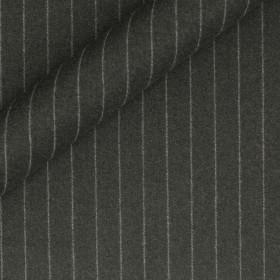 Tissu en flanelle à fines rayures en pure laine vierge Super 130's