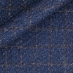 Tissu Carreaux en pure laine vierge et soie