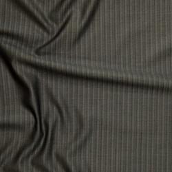 Tissu fines rayures en pure laine vierge et soie