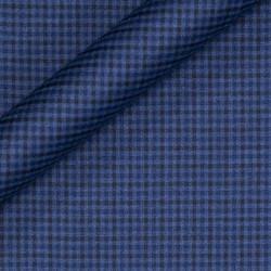Tissu à damiers en pure laine vierge Super 130's