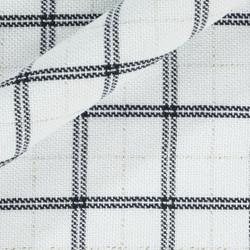 Tissu jacquard avec fils entrelacés à carreaux