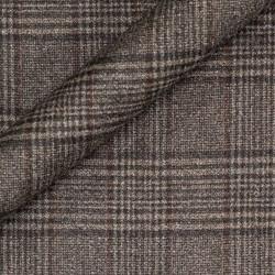 Manteau à carreaux en pure laine vierge