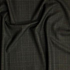 Tissu Prince de Galles en double retors en pure laine vierge