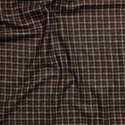 Tissu à carreaux en pure laine vierge, cachemire et soie