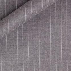 Tissu à fines rayures en pure laine vierge Super 130's