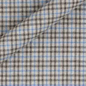 Tissu à carreaux en coton, laine et soie