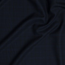 Tissu à carreaux en pure laine vierge