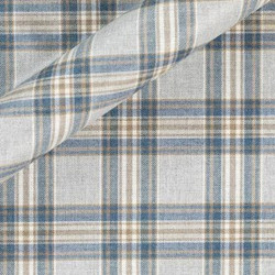 Tissu en viscose extensible à motif tartan