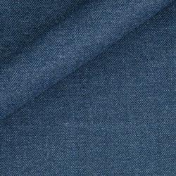 Tissu chevrons en pure laine vierge et coton